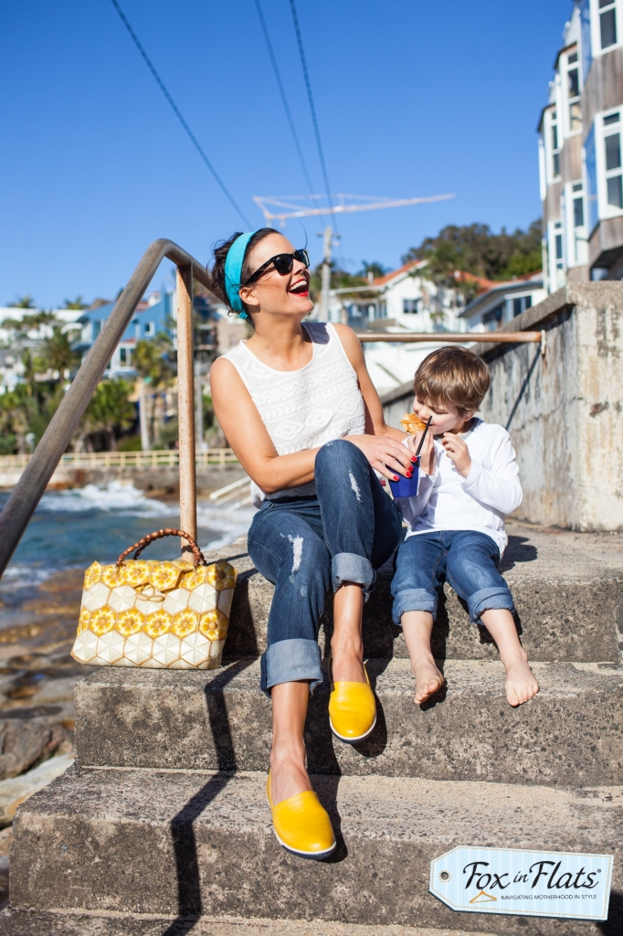 Andrea Michelle Fox in Flats Motherhood Style Summer