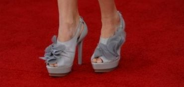 high heels at the oscars