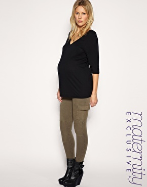 ASOS MATERNITY Exclusive Cargo Leggings $53.80 www.ASOS.com