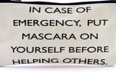 Makeup bags with a message
