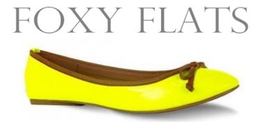 neon flat shoes