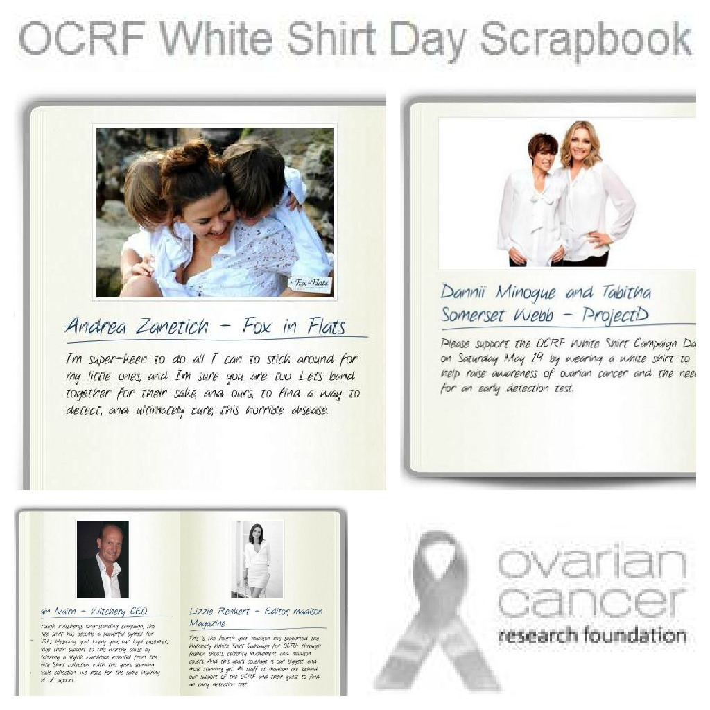 Andrea Michelle Fox in Flats OCRF White Shirt Day Scrapbook