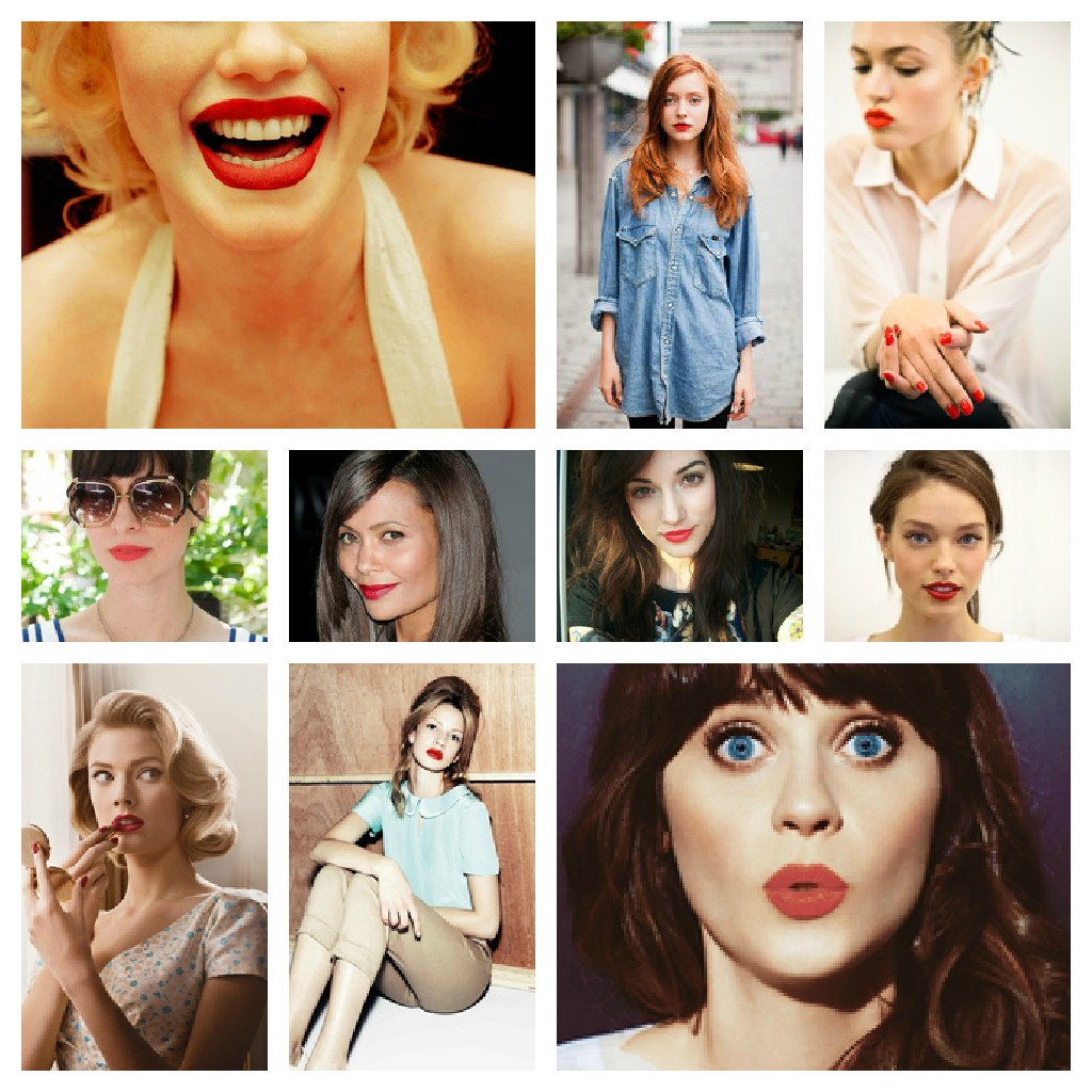 Red Lipstick Inspiration Wall