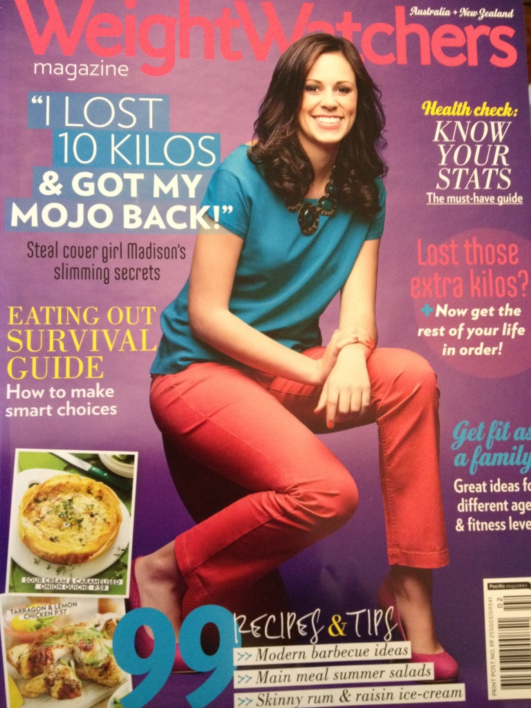 Fox in Flats in Weight Watchers Magazine Jan 2013