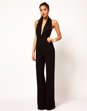 halterneck jumpsuit perfect if you have small breasts