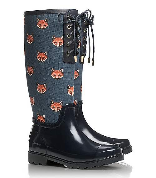 Fox wellies by Tory Burch