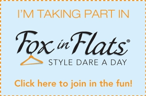 Fox in Flats Style Dare Blogger Button