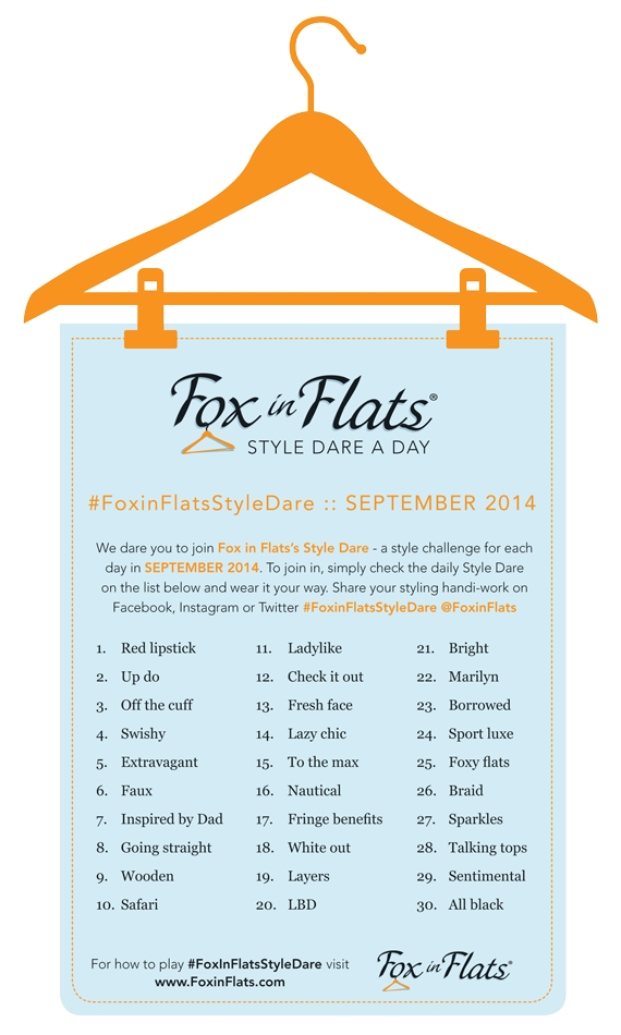 Fox in Flats Style Dare September
