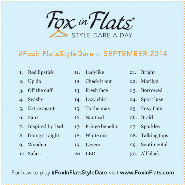 Fox in Flats Style Dare September 2014