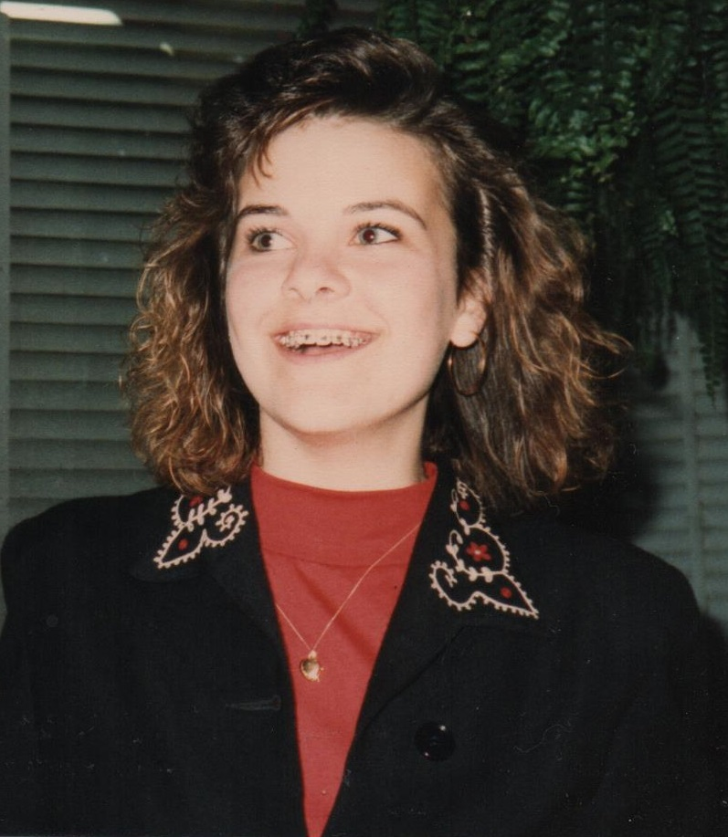 Andrea with braces at 16