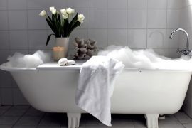 Valentines Gift Idea Run a deep bubble bath, accompany with a snuggly fluffy white robe, and jump on in