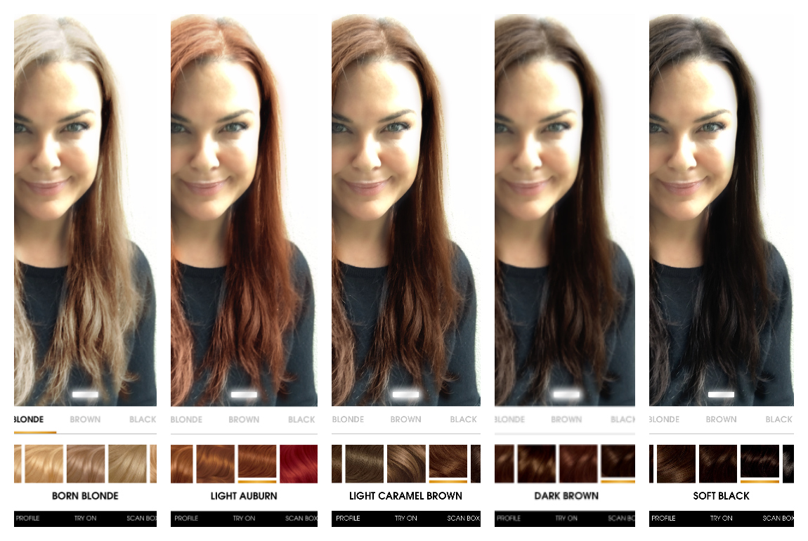 Find your perfect hair colour with this easy myshade app - Fox In ...